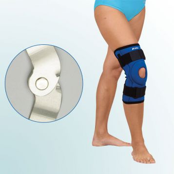 OR 7D - Ortéza kolenního kloubu – krátká léčebná s kloubem – tvarovaný střih